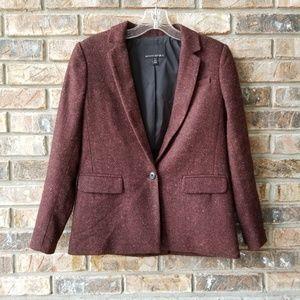 Banana Republic Petite Size 00P Tweed Wool Blazer